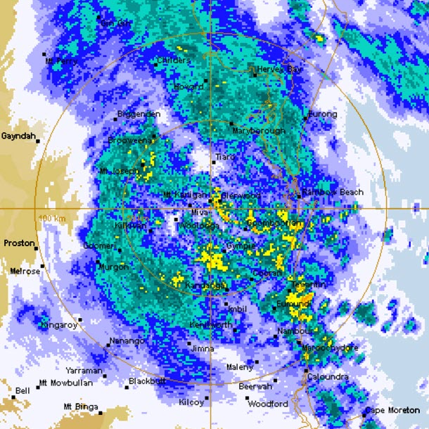 Noosa Heavy Rain March 2017 Radar Image
